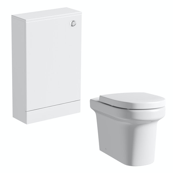 Orchard Derwent white back to wall unit and Burton toilet with seat