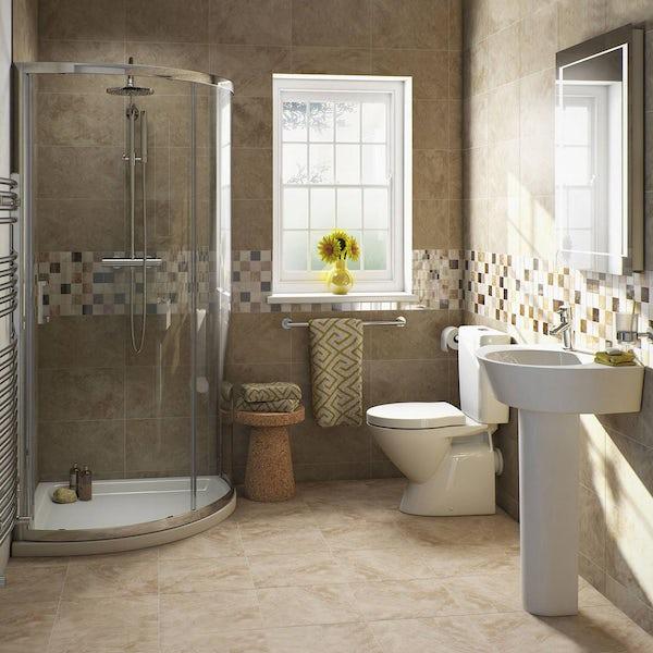 Ancona Close Coupled Toilet Inc Luxury Toilet Seat