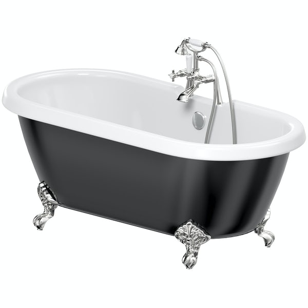 The Bath Co. Dulwich traditional freestanding bath & tap pack with Dulwich bath shower mixer